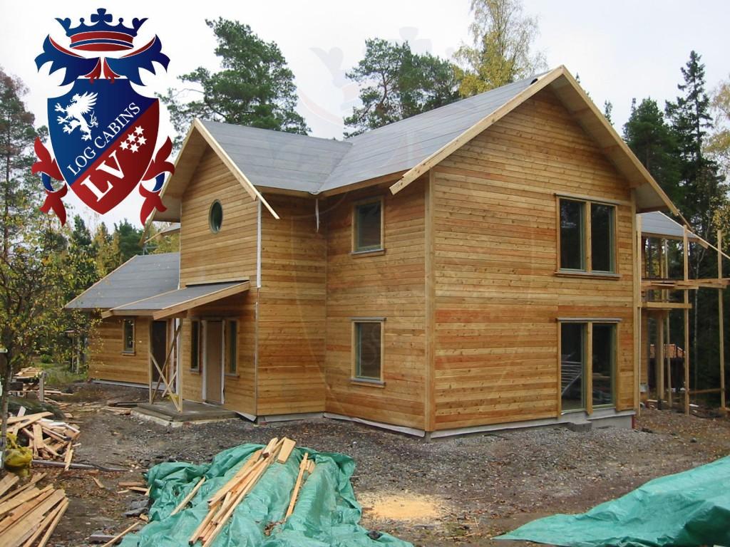 Hardwood Log Cabins ~ Timber frame sectional housing my flat pack homes log