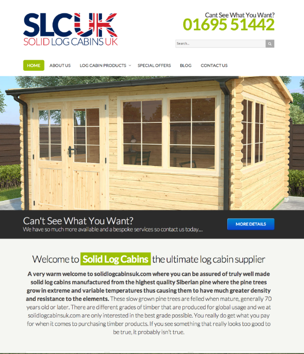 Log Cabins Solid UK