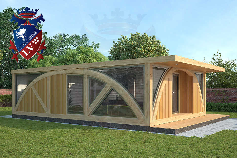 SunShine 2 Bed Residential Timber Frame Lodge 6m x 9m
