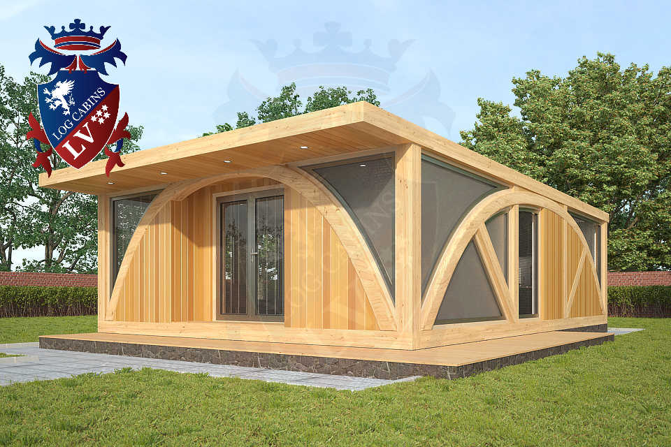 SunShine 2 bedroom Timber Frame Lodge 6m x 9m   0234