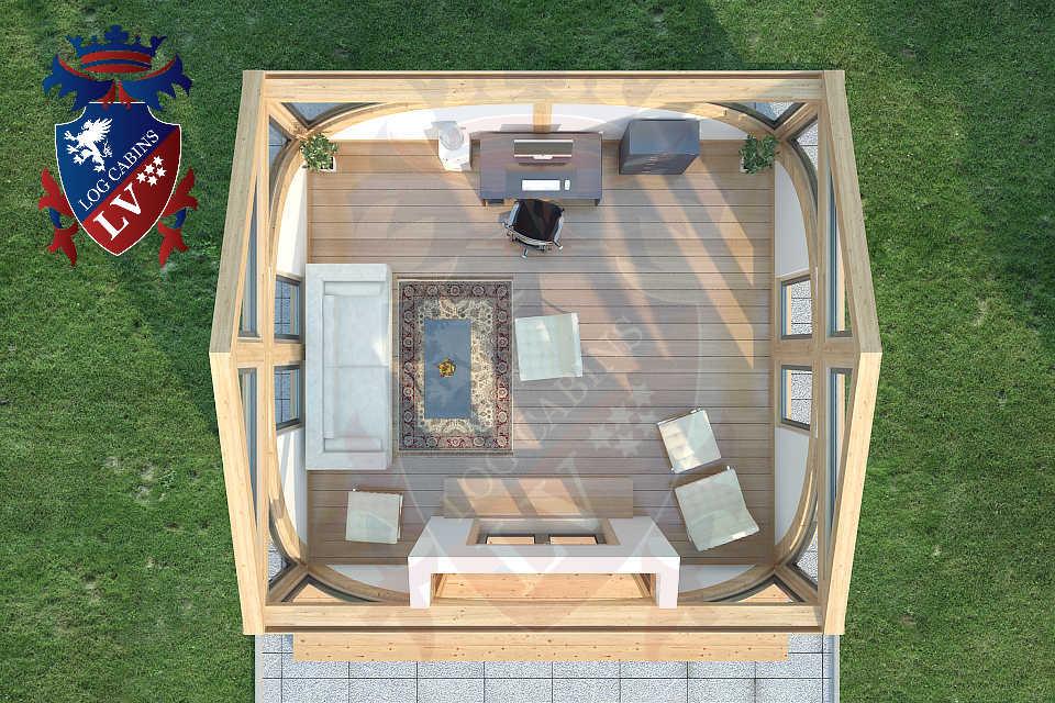 SunShine Clock House 6.0m x 4.0m   17