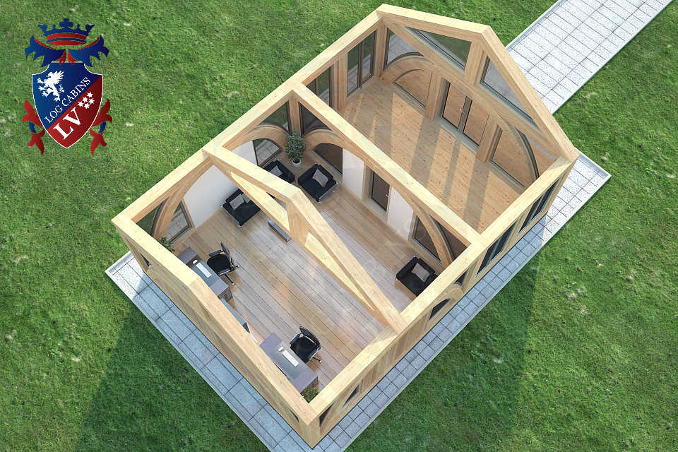 Quality Glulam Fully Insulated Garden Office