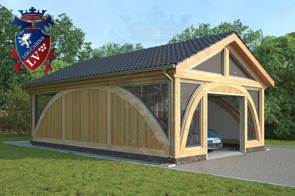 Sunshine glulam insulated timber frame garage m