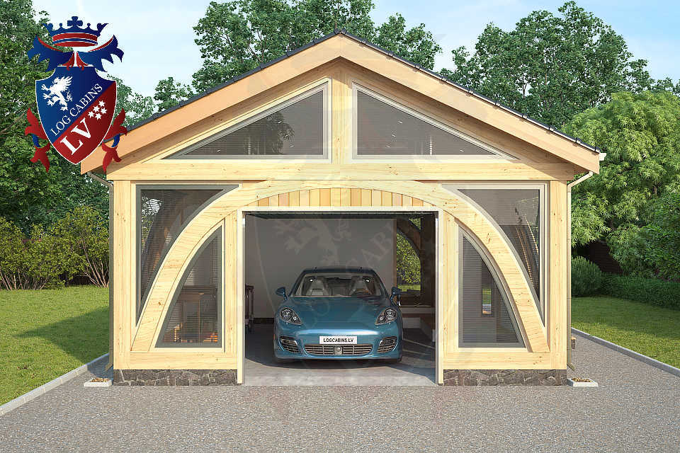 SunShine Glulam Insulated Garage  5.5m x 9.0m 14