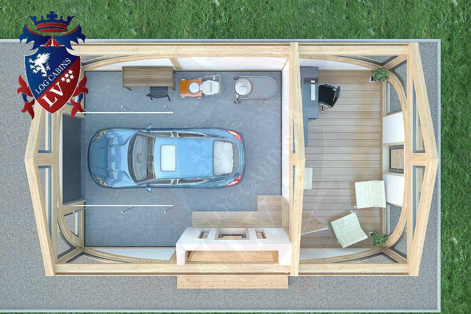 SunShine Glulam Insulated Garage  5.5m x 9.0m 17