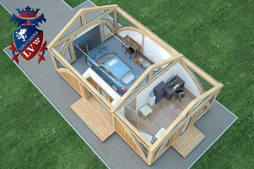 SunShine Glulam Insulated Garage  5.5m x 9.0m 20