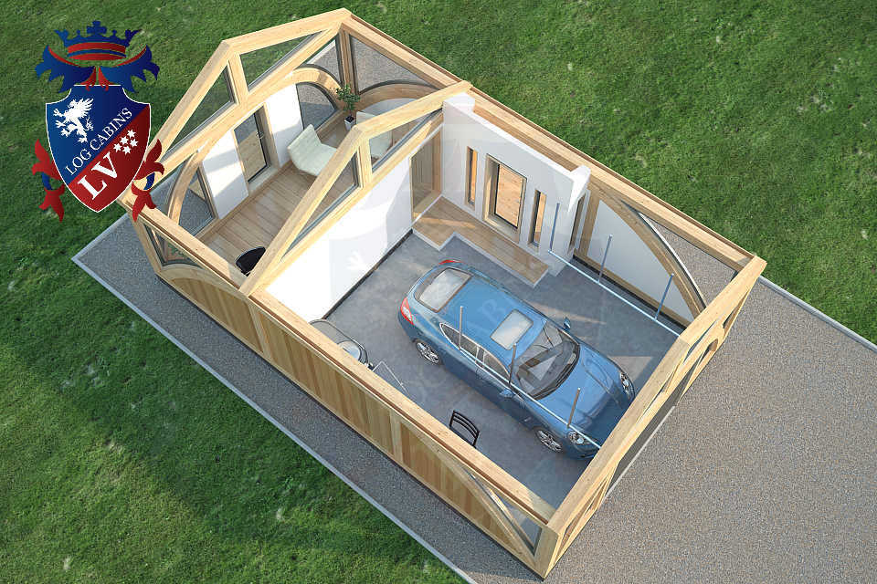 SunShine Glulam Insulated Garage  5.5m x 9.0m 23