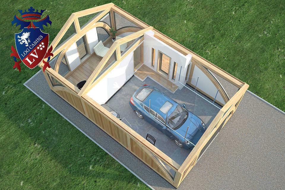 SunShine Glulam Insulated Garage  5.5m x 9.0m 23
