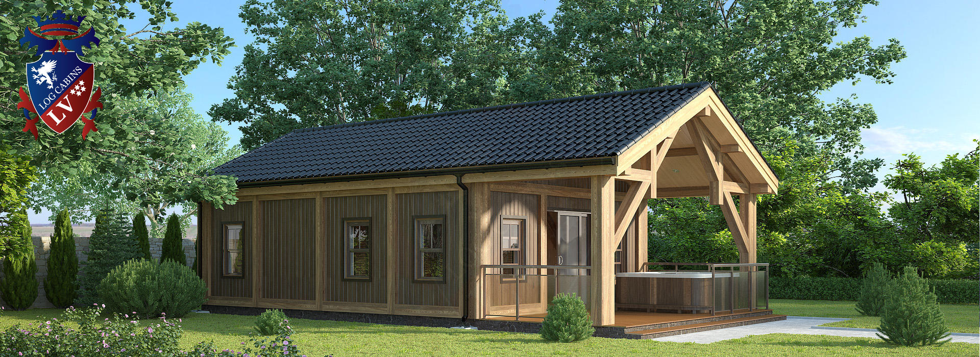 log cabins, timber frame studio, insulated garden offices