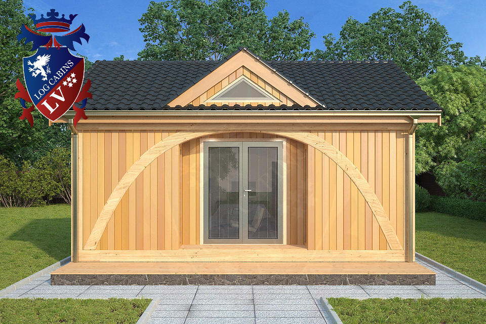 quality insulated timber frame offices from log cabins lv