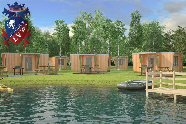 Timber Frame Glamping Camping Pods