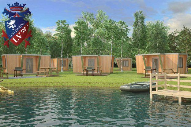 Timber Frame Glamping Camping Pods