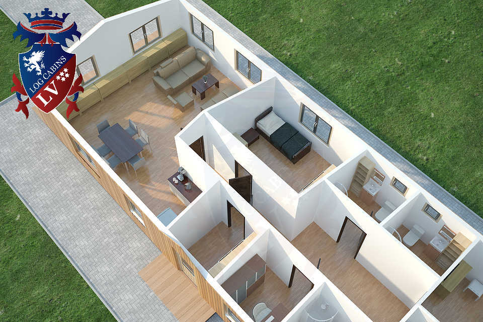 3 bed cabins