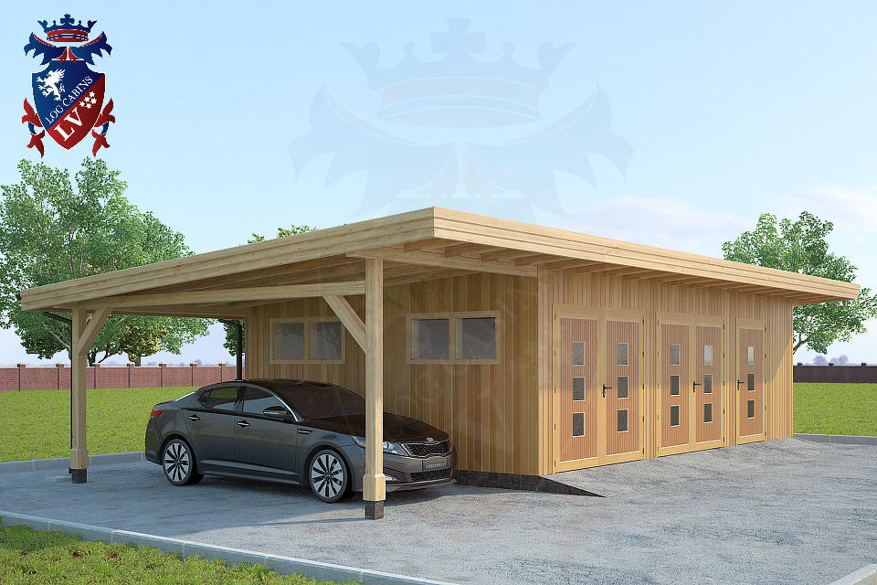 Timber Frame Siberian Larch Garages   1