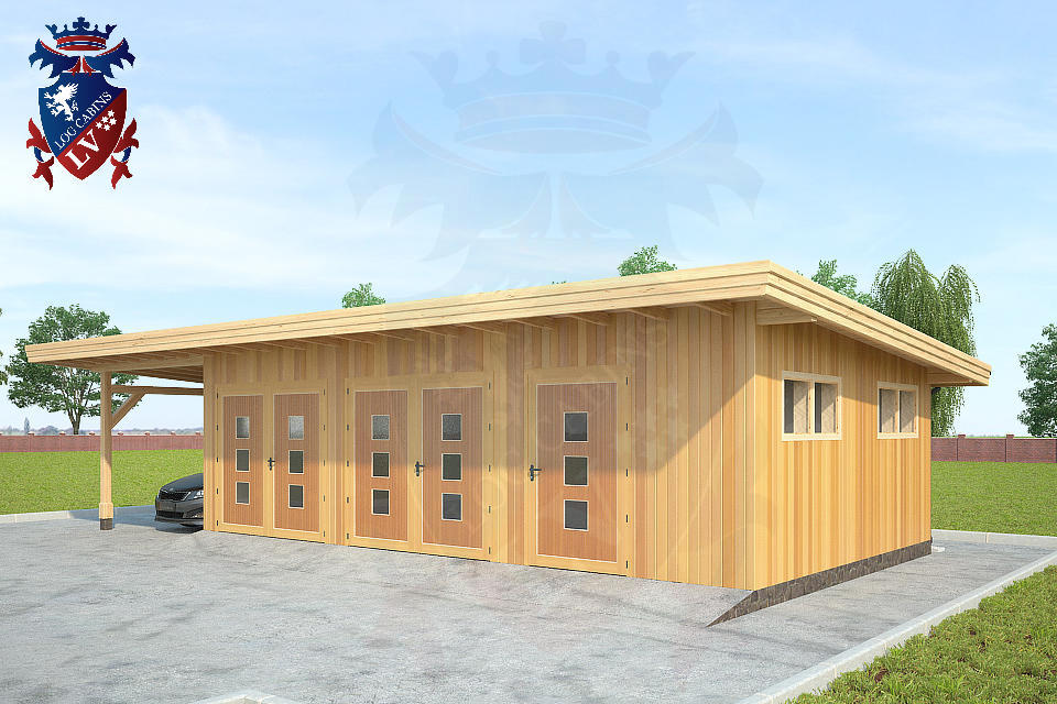 Timber Frame Siberian Larch Garages   2