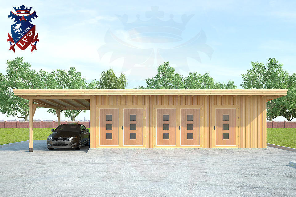 Timber Frame Siberian Larch Garages   3
