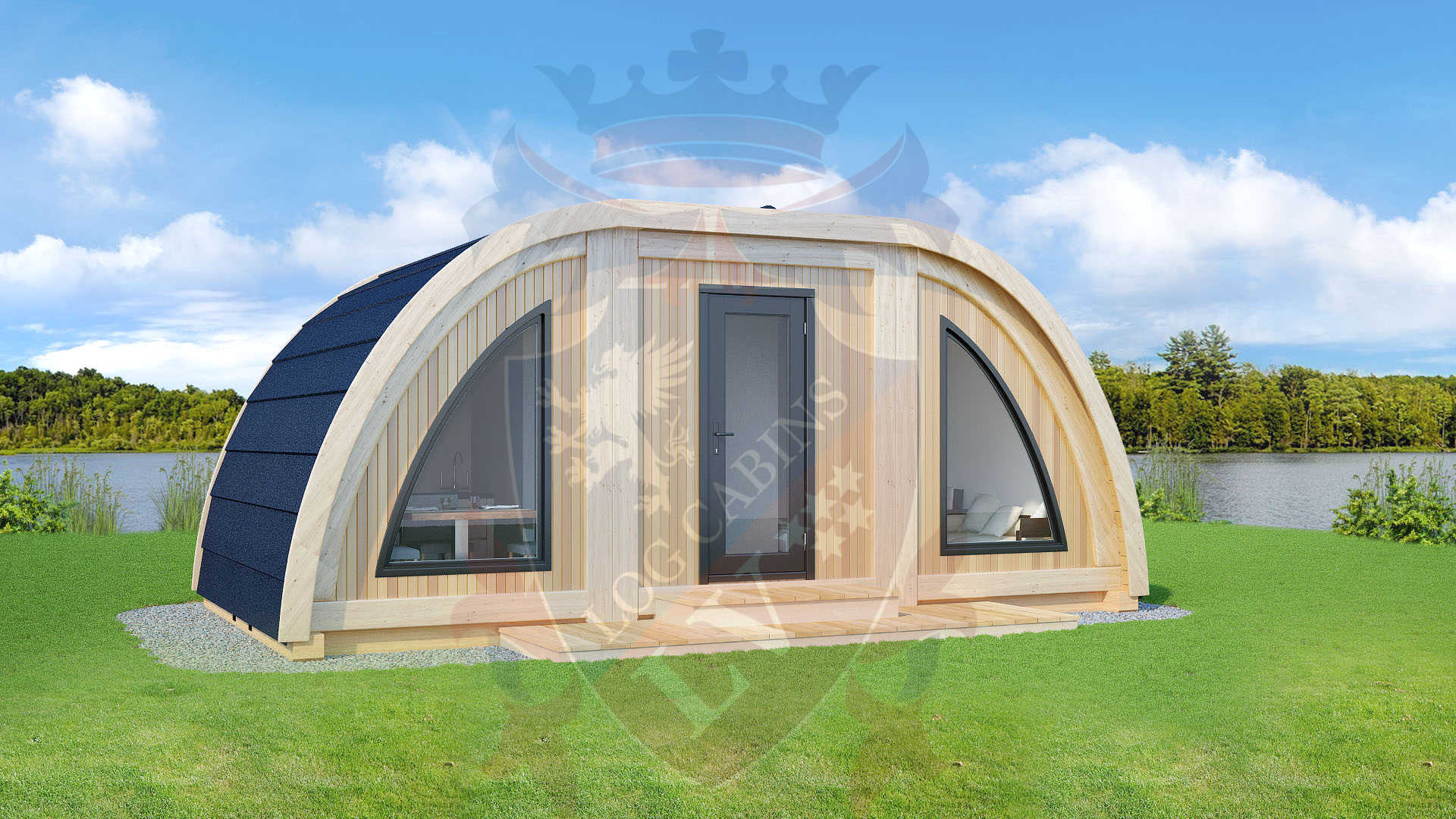Timber frame highly insulated camping Pods 1