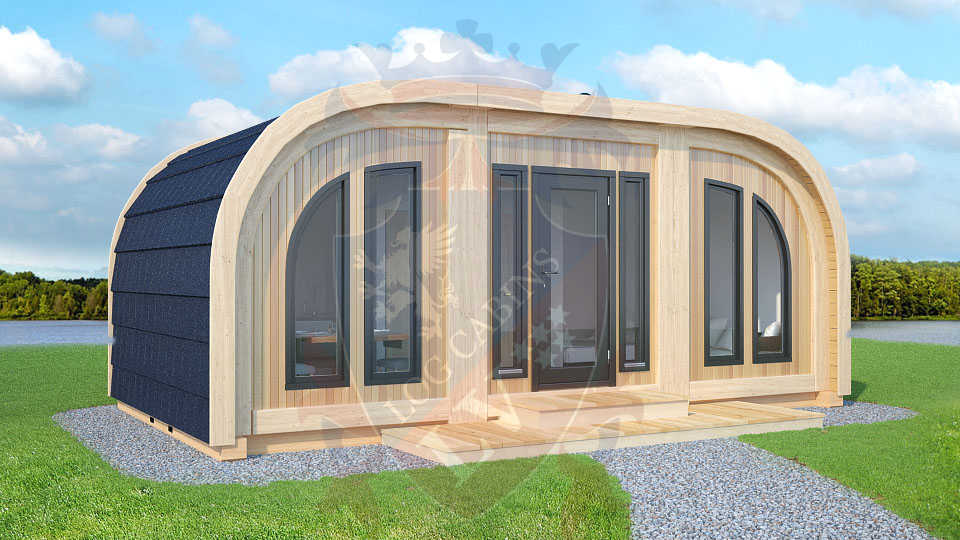 Timber frame highly insulated camping Pods 2