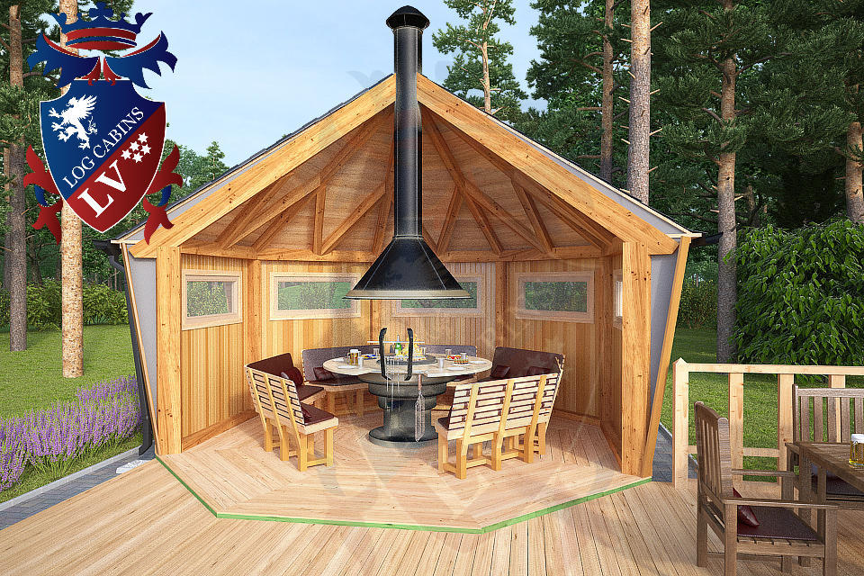Kota Cabins Bbq Cabins New From Logcabinslv Log Cabins