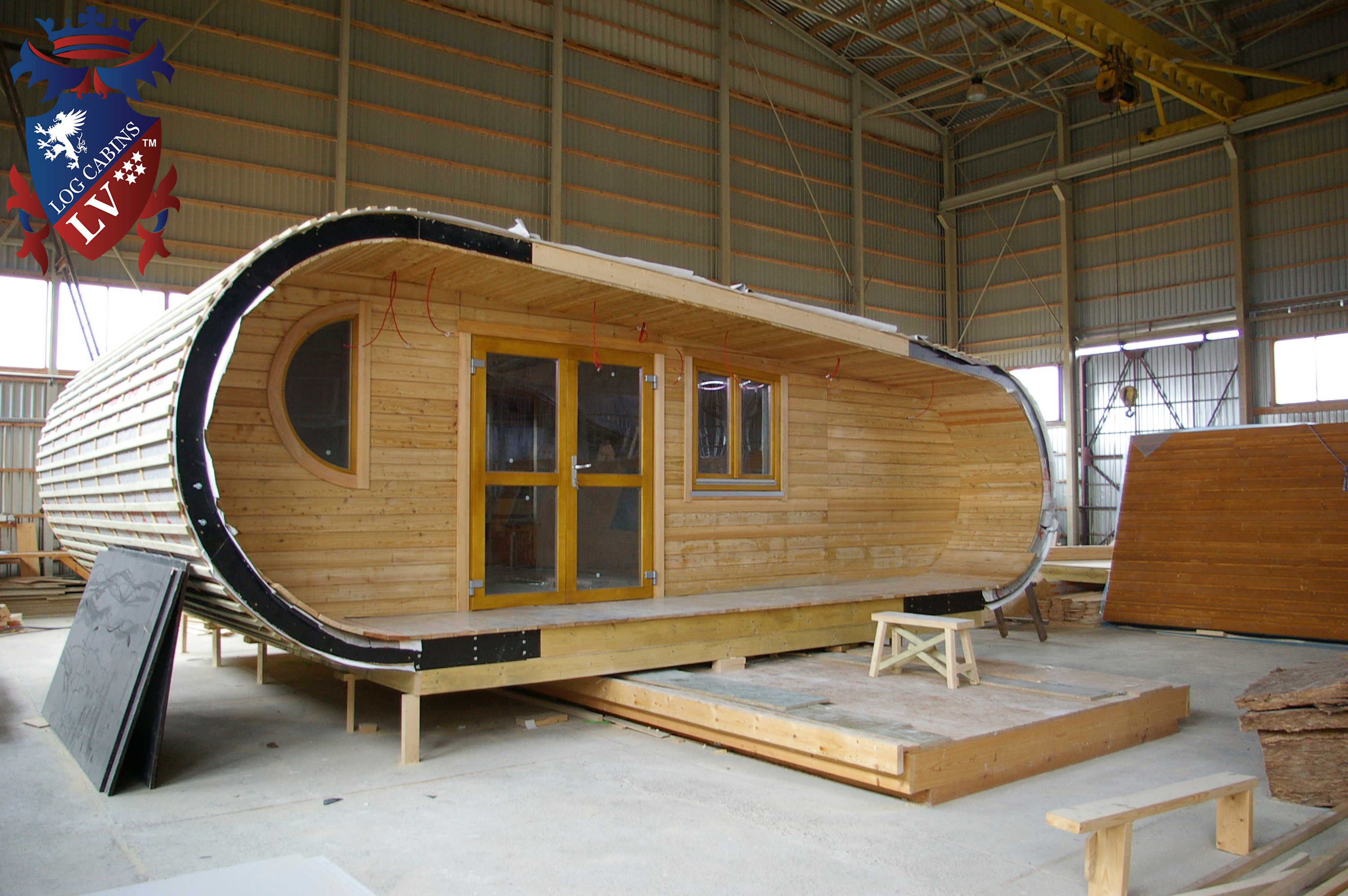 Camping pods archives log cabins lv blog for Eco cabin kits