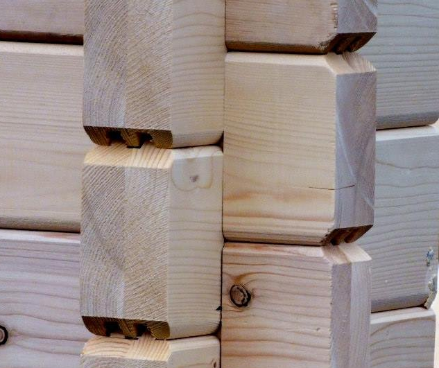 glulam logs - by- log cabins.lv  1431
