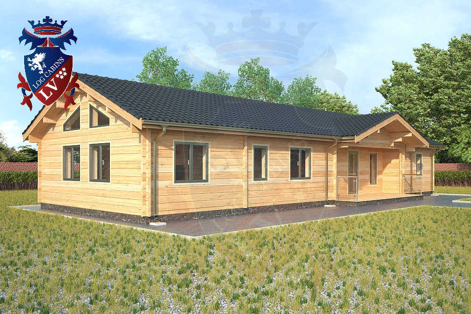 Log Glulam Residential cabins