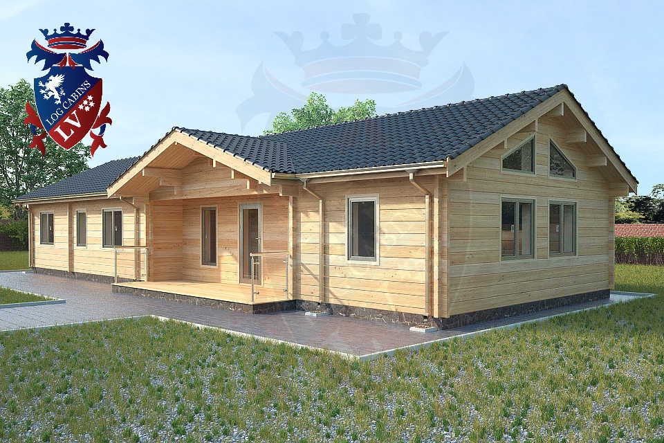 glulam residential twin skin log cabins 14