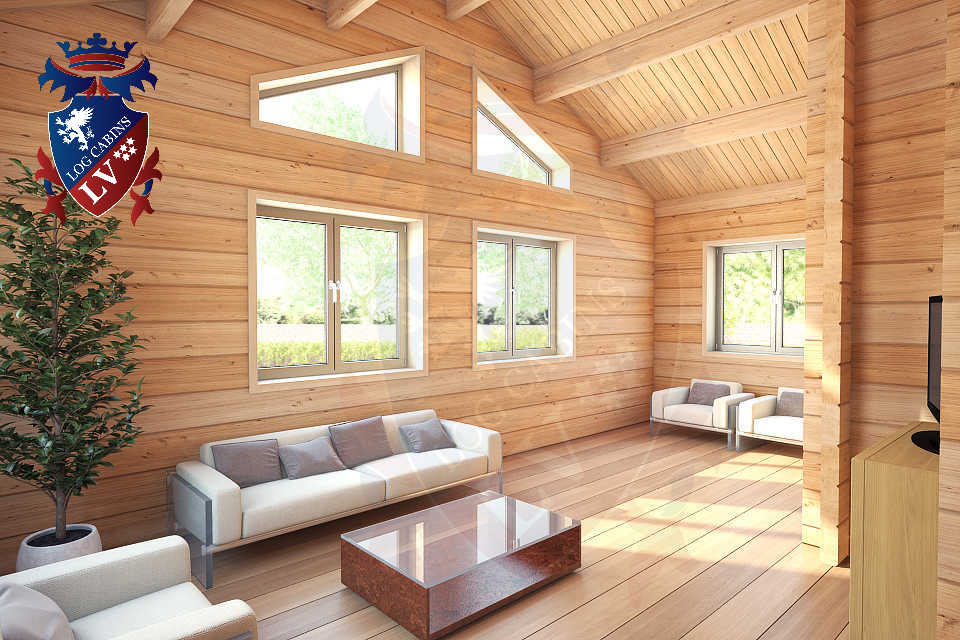 glulam residential twin skin log cabins 40