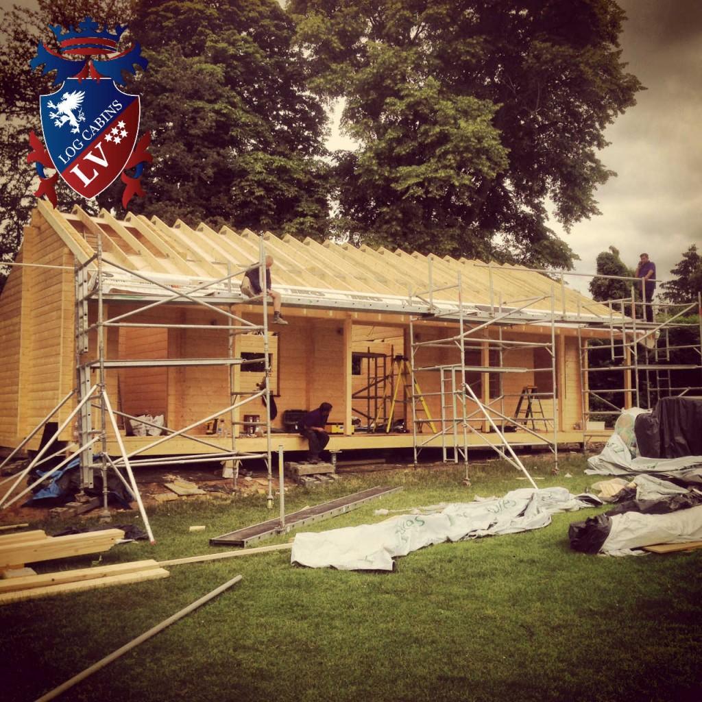 laminated log cabins