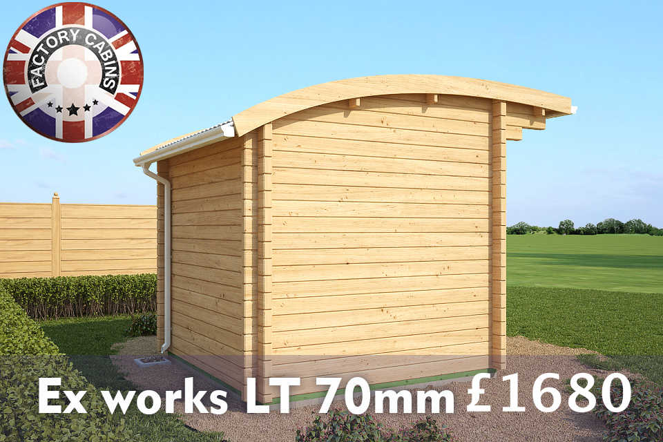 under 2.5m high the cheapest, best quality 70 mm log cabins ex works LT on the market.