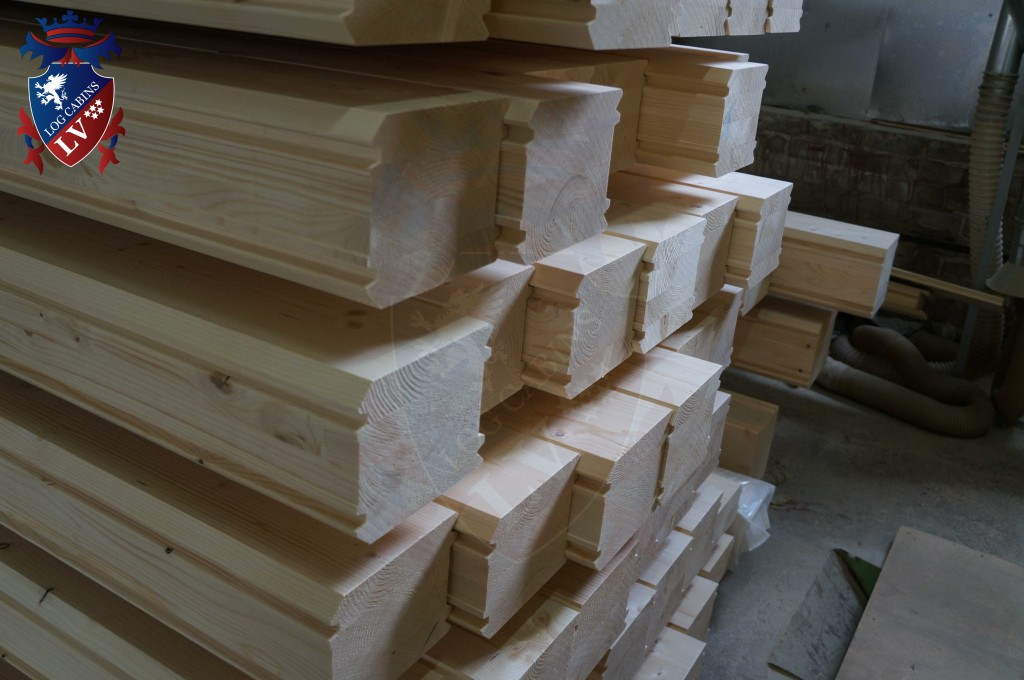 laminated Larch Logs 44