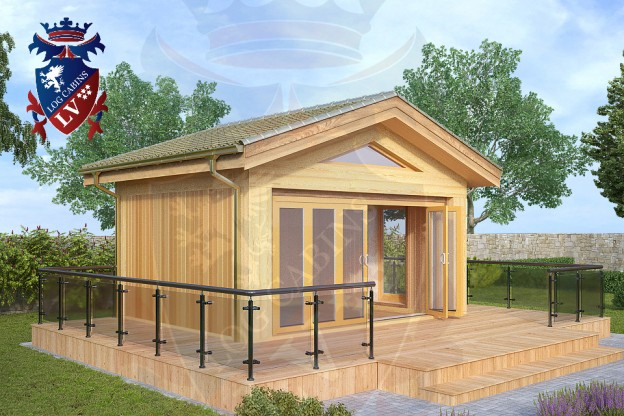 Timber Frame Laminated Siberian Larch Cabin
