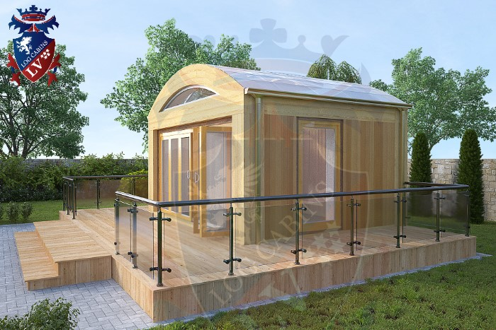 New laminated glass roof garden cabins log cabins lv blog for Glass garden office