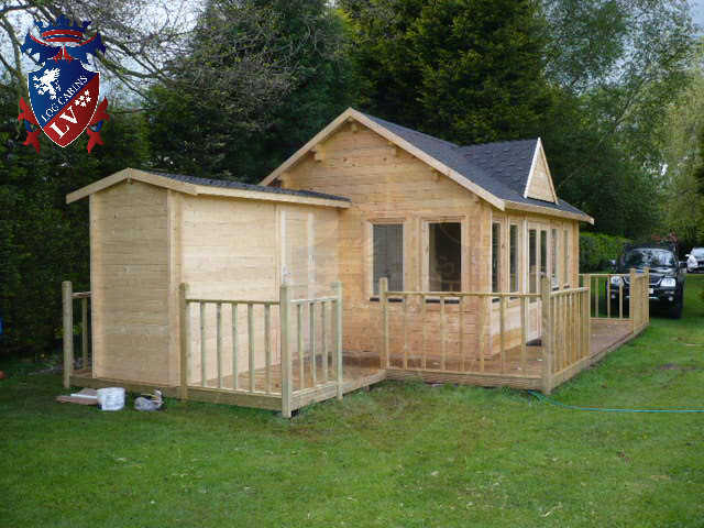 log cabins LV  454