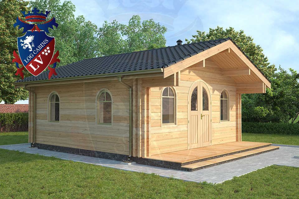 log cabins 80mm laminated