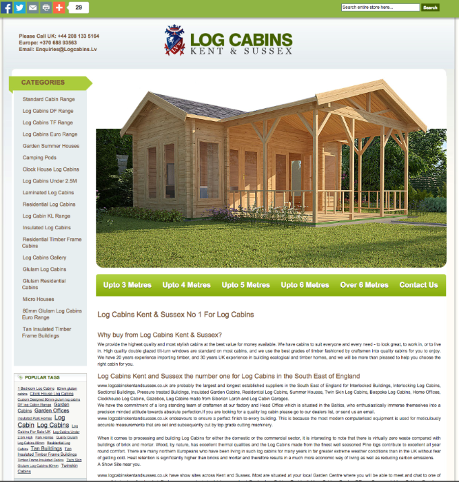 log cabins kent and sussex
