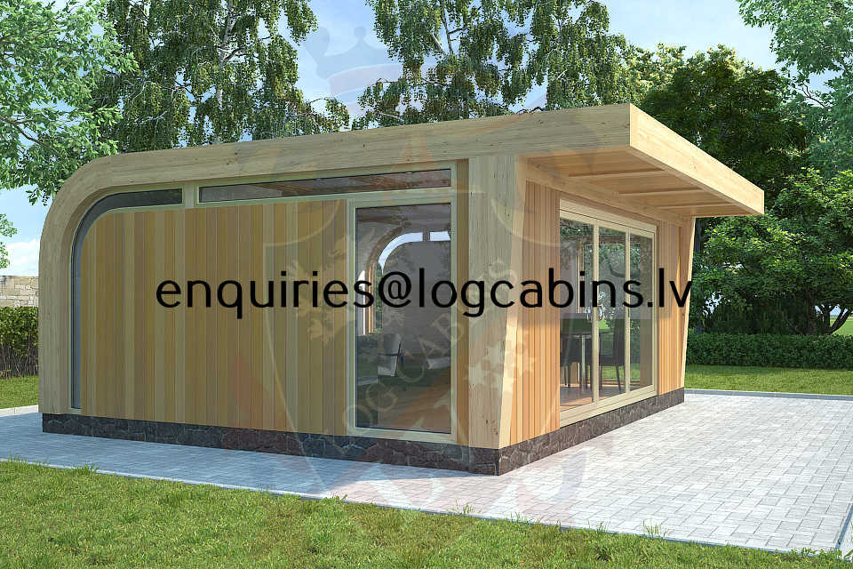 timber frame buildings and Log Cabins LV 1
