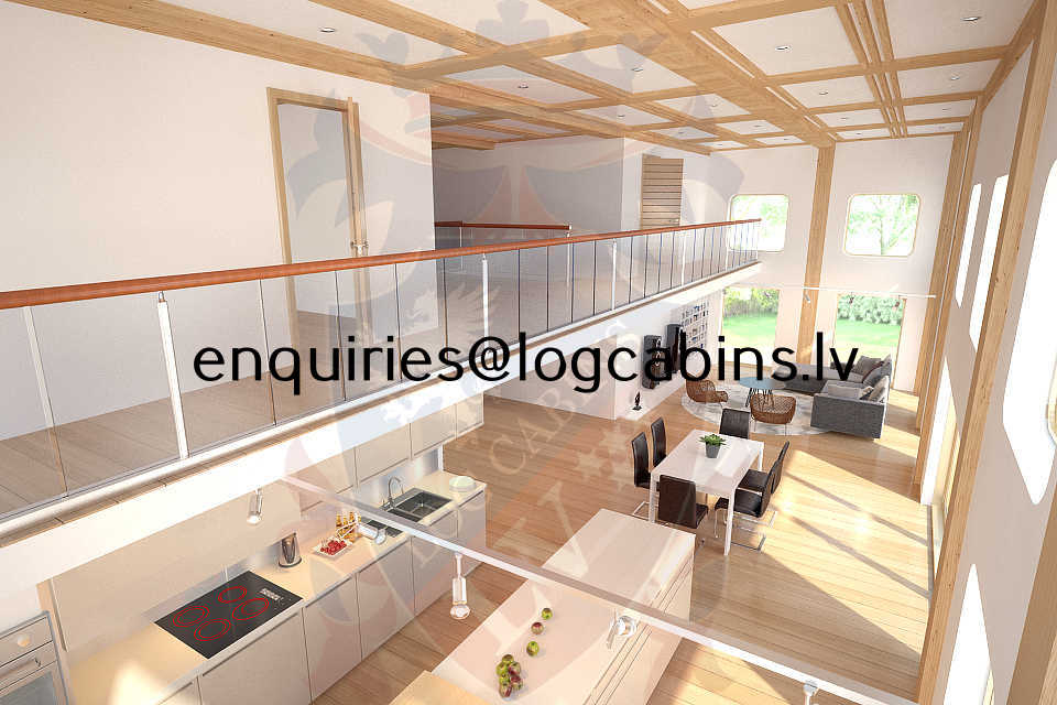 timber frame buildings and Log Cabins LV 3