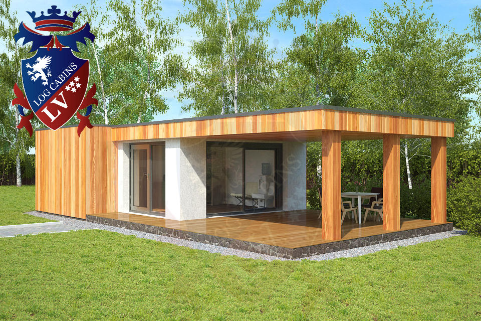 Garden offices uk archives log cabins lv blog for Timber garden office