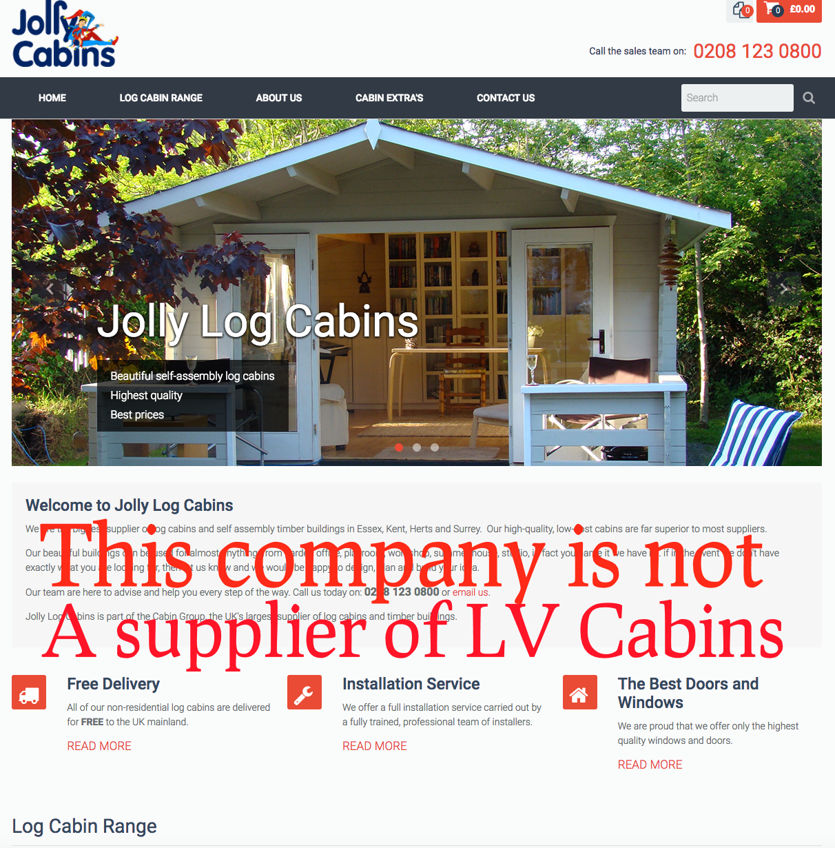 jolly cabins fraud
