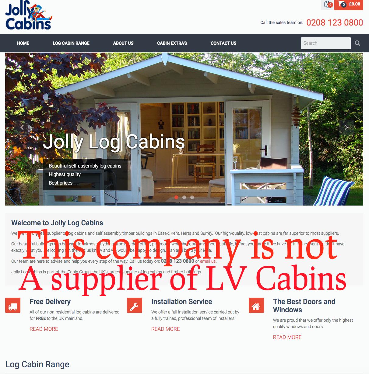 jolly cabins fraud
