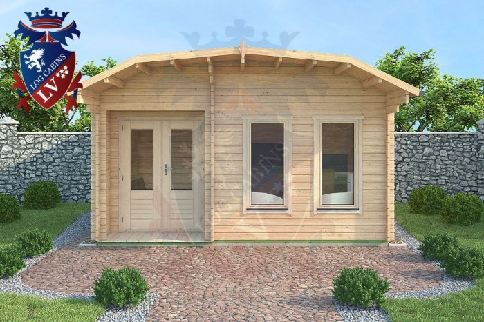log cabin dutch barn roof range 5.0m x 3.5 -1