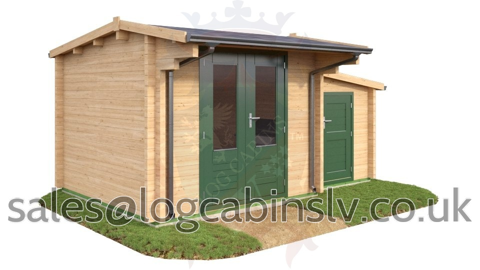 Deluxe Log Cabin Hamstreet 3.0 m x 3.0 m dlclv4016