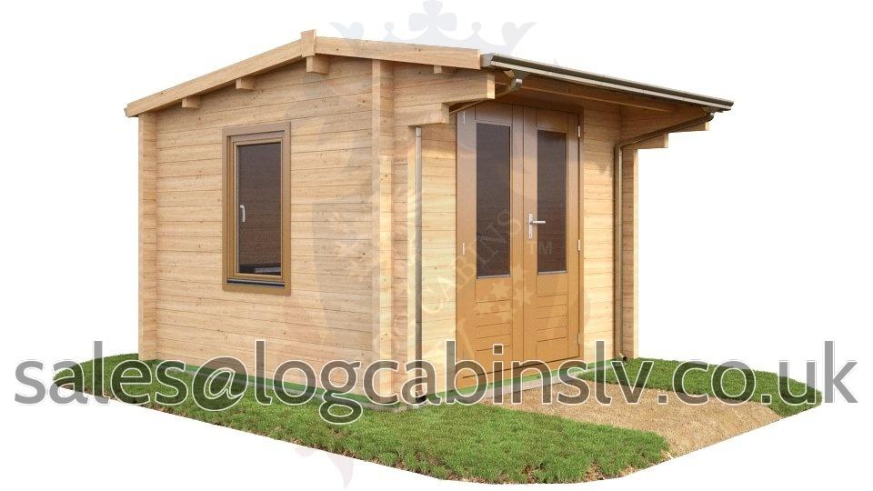 Deluxe Log Cabin Longfield 3.0 m x 3.0 m dlclv4005