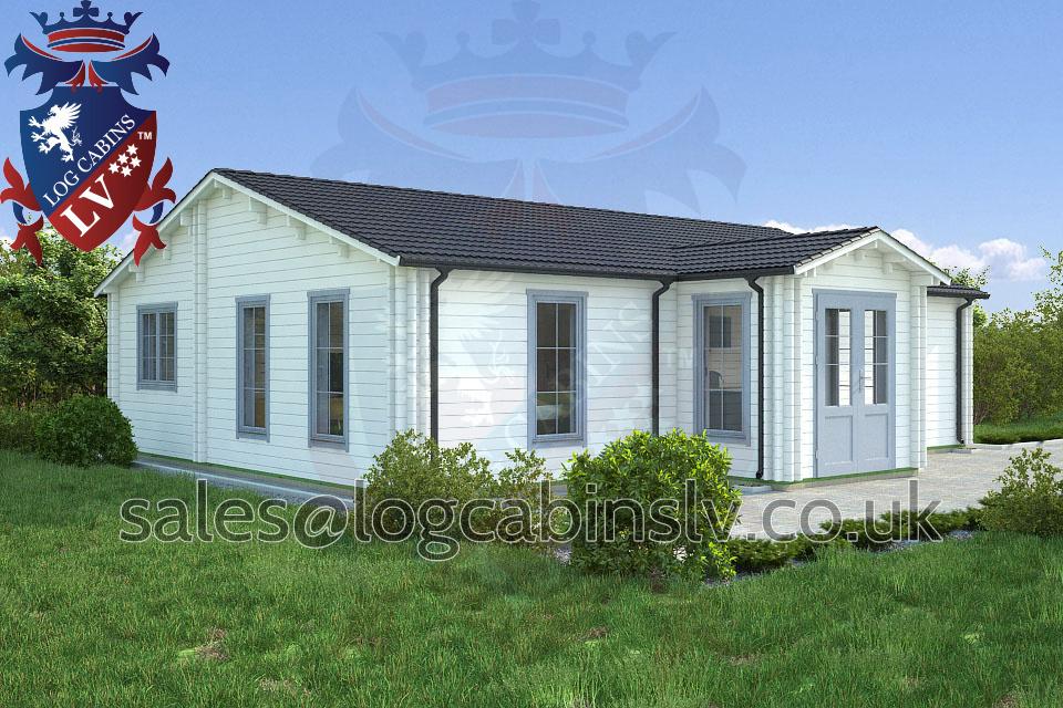 Residential Type Multi Room Log Cabin 10 0 M X 9 0 M