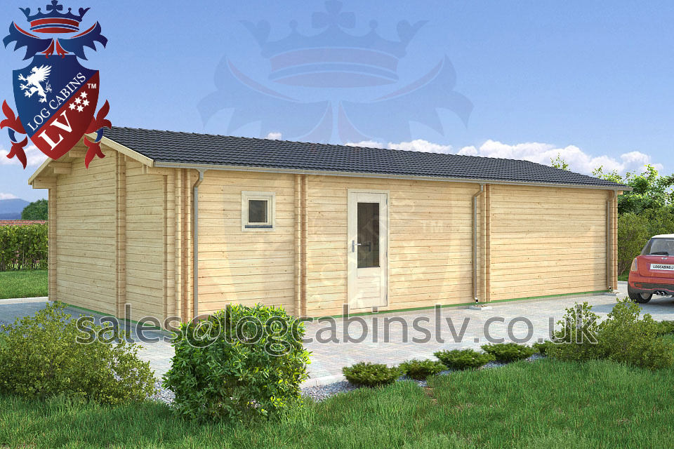 Residential Type Multi Room Log Cabin 11 0 M X 5 5 M