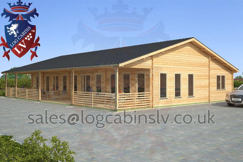 Residential Type Multi Room Log Cabin 11 5 M X 15 5 M