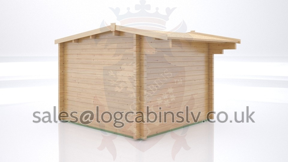 Totally Bespoke Log Cabin Felpham 3.0 m x 3.0 m tblclv1211
