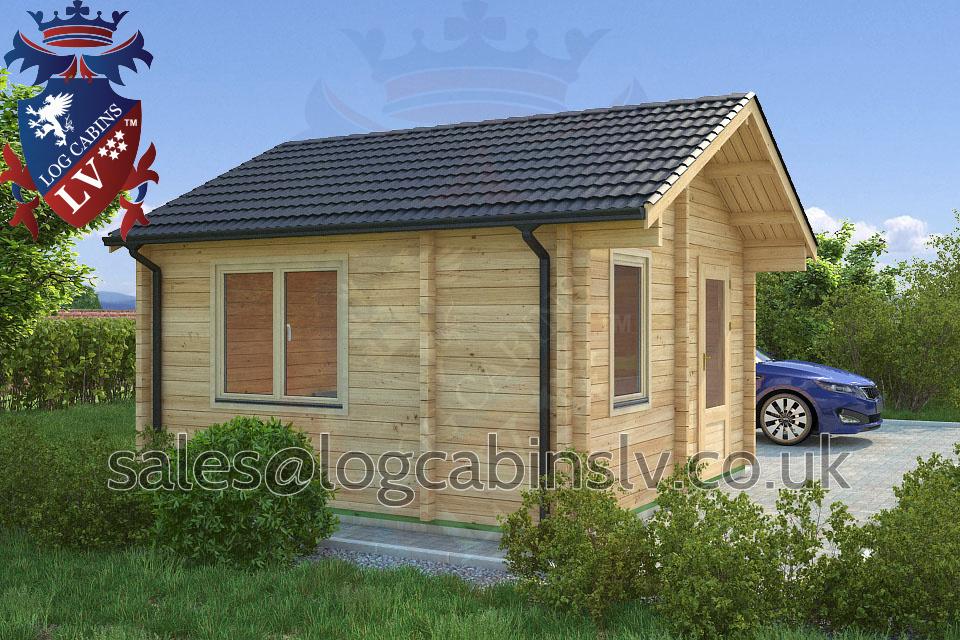 Residential Type Multi Room Log Cabin 4 0 M X 4 0 M