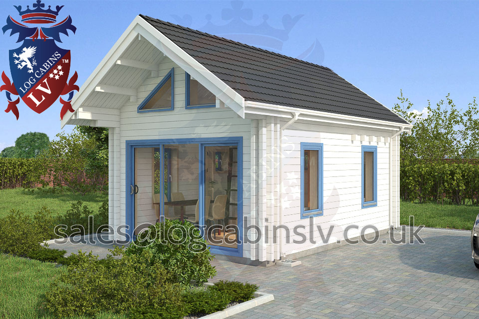 Residential Type Multi Room Log Cabin 4 0 M X 5 7 M